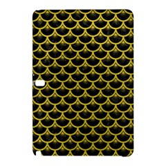 Scales3 Black Marble & Yellow Leather (r) Samsung Galaxy Tab Pro 12 2 Hardshell Case