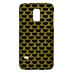 Scales3 Black Marble & Yellow Leather (r) Galaxy S5 Mini