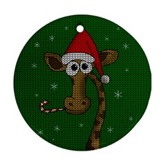 Christmas Giraffe  Ornament (round)