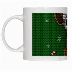 Christmas Giraffe  White Mugs