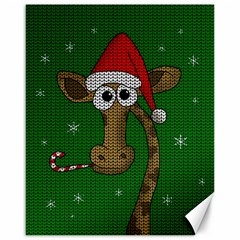 Christmas Giraffe  Canvas 16  X 20