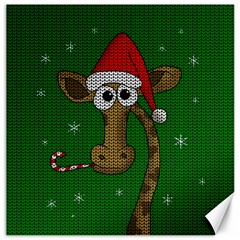 Christmas Giraffe  Canvas 20  X 20