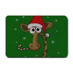 Christmas Giraffe  Small Doormat