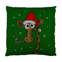 Christmas Giraffe  Standard Cushion Case (two Sides)