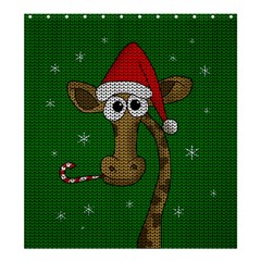 Christmas Giraffe  Shower Curtain 66  X 72  (large)