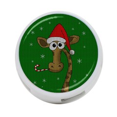 Christmas Giraffe  4 Port Usb Hub (two Sides)