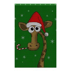 Christmas Giraffe  Shower Curtain 48  X 72  (small)
