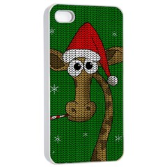 Christmas Giraffe  Apple Iphone 4/4s Seamless Case (white)