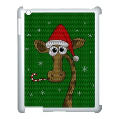 Christmas Giraffe  Apple Ipad 3/4 Case (white)