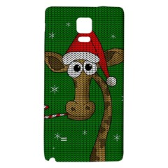 Christmas Giraffe  Galaxy Note 4 Back Case