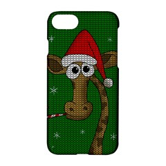 Christmas Giraffe  Apple Iphone 7 Hardshell Case