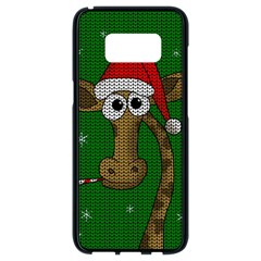 Christmas Giraffe  Samsung Galaxy S8 Black Seamless Case