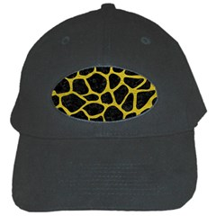 Skin1 Black Marble & Yellow Leather Black Cap