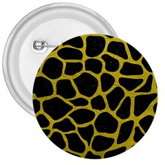 Skin1 Black Marble & Yellow Leather 3  Buttons