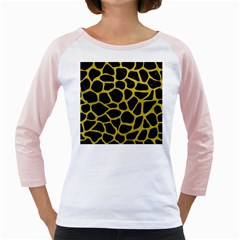 Skin1 Black Marble & Yellow Leather Girly Raglans