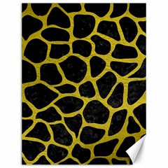 Skin1 Black Marble & Yellow Leather Canvas 12  X 16