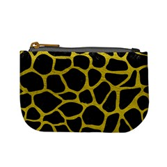 Skin1 Black Marble & Yellow Leather Mini Coin Purses