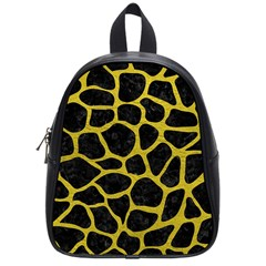 Skin1 Black Marble & Yellow Leather School Bag (small)