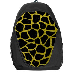 Skin1 Black Marble & Yellow Leather Backpack Bag