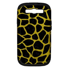 Skin1 Black Marble & Yellow Leather Samsung Galaxy S Iii Hardshell Case (pc+silicone)