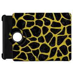 Skin1 Black Marble & Yellow Leather Kindle Fire Hd 7