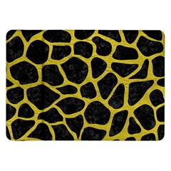 Skin1 Black Marble & Yellow Leather Samsung Galaxy Tab 8 9  P7300 Flip Case