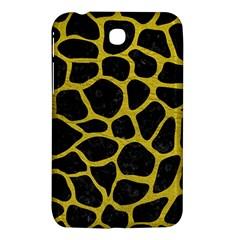 Skin1 Black Marble & Yellow Leather Samsung Galaxy Tab 3 (7 ) P3200 Hardshell Case