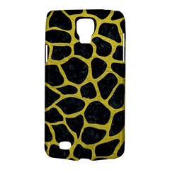 Skin1 Black Marble & Yellow Leather Galaxy S4 Active