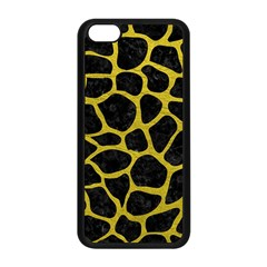 Skin1 Black Marble & Yellow Leather Apple Iphone 5c Seamless Case (black)