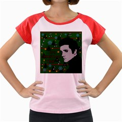 Elvis Presley   Christmas Women s Cap Sleeve T Shirt