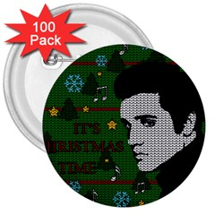 Elvis Presley   Christmas 3  Buttons (100 Pack)