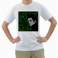 Elvis Presley   Christmas Men s T Shirt (white) (two Sided)