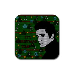 Elvis Presley   Christmas Rubber Coaster (square)