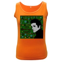 Elvis Presley   Christmas Women s Dark Tank Top