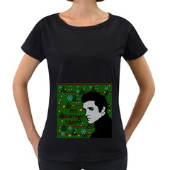 Elvis Presley   Christmas Women s Loose Fit T Shirt (black)