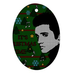 Elvis Presley   Christmas Oval Ornament (two Sides)