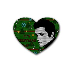 Elvis Presley   Christmas Heart Coaster (4 Pack)