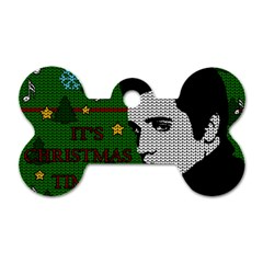 Elvis Presley   Christmas Dog Tag Bone (one Side)