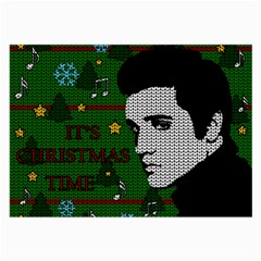 Elvis Presley   Christmas Large Glasses Cloth (2 Side)