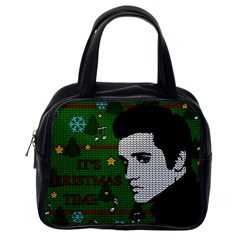Elvis Presley   Christmas Classic Handbags (one Side)