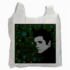 Elvis Presley   Christmas Recycle Bag (one Side)