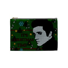 Elvis Presley   Christmas Cosmetic Bag (medium)