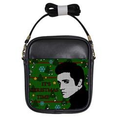 Elvis Presley   Christmas Girls Sling Bags