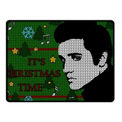 Elvis Presley   Christmas Fleece Blanket (small)