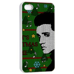 Elvis Presley   Christmas Apple Iphone 4/4s Seamless Case (white)