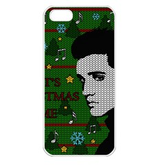 Elvis Presley   Christmas Apple Iphone 5 Seamless Case (white)