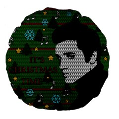 Elvis Presley   Christmas Large 18  Premium Flano Round Cushions