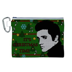 Elvis Presley   Christmas Canvas Cosmetic Bag (l)