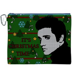 Elvis Presley   Christmas Canvas Cosmetic Bag (xxxl)