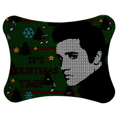 Elvis Presley   Christmas Jigsaw Puzzle Photo Stand (bow)